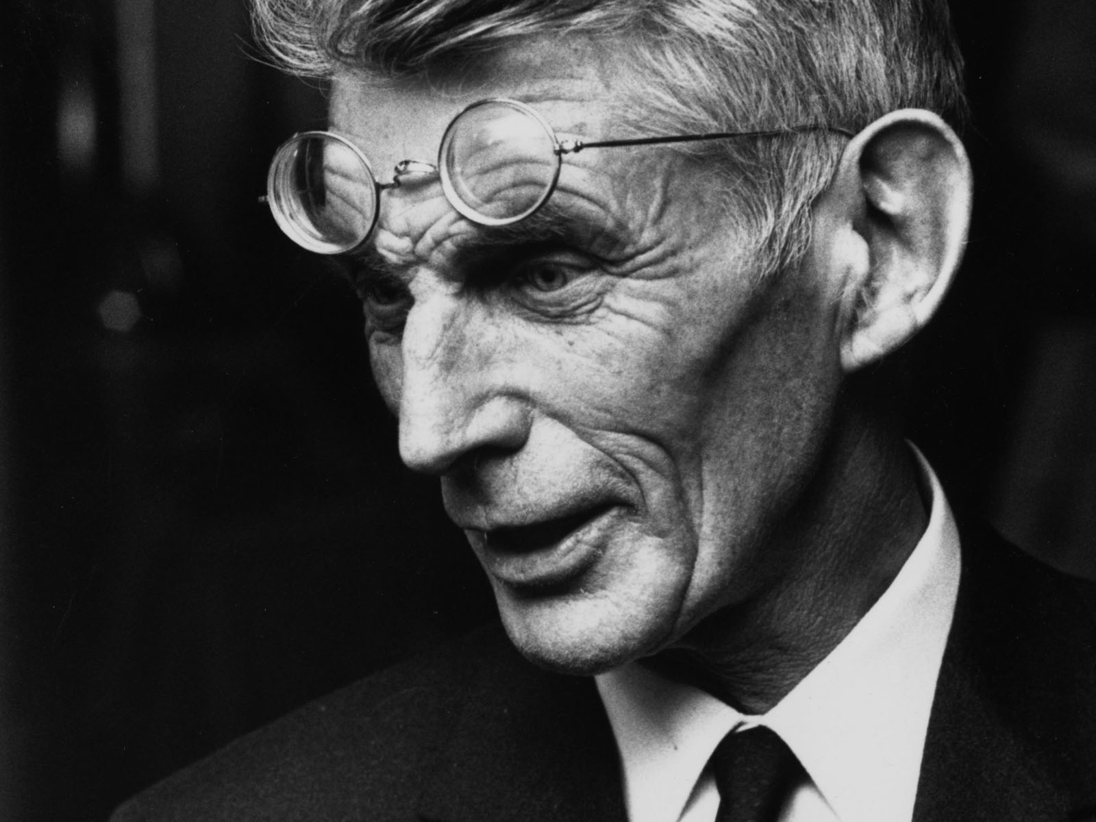 Irish playwright and author Samuel Beckett (1906 - 1989) at a first night performance, 25th April 1970. (Photo by Reg Lancaster/Express/Getty Images)